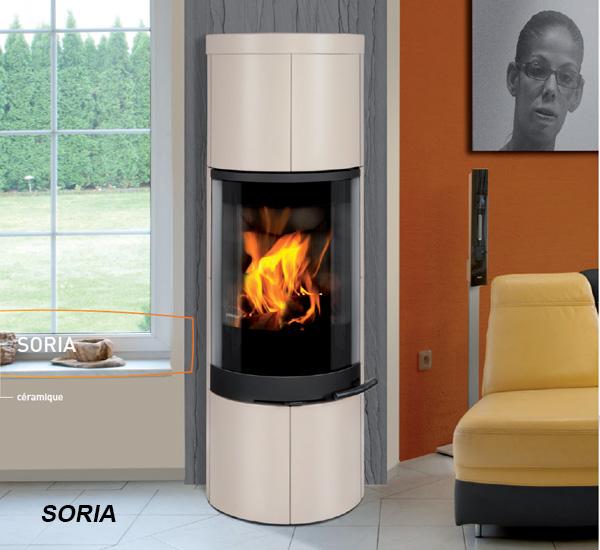 Poêle à bois ROMOTOP - SORIA (6 kW), à la boutique Poêles et Cheminées du Girou, à Lavalette, près de Toulouse
