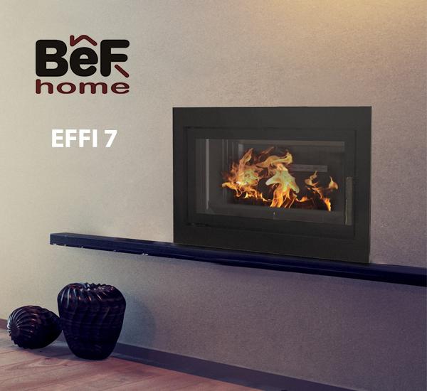 insert BeFHOME Modèle EFFI7, vendu près de Toulouse, par les Poêles et Cheminées du Girou, à Lavalette