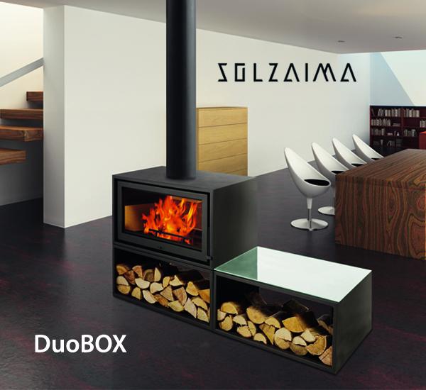 Poêle à bois SOLZAIMA - Modèle DuoBOX