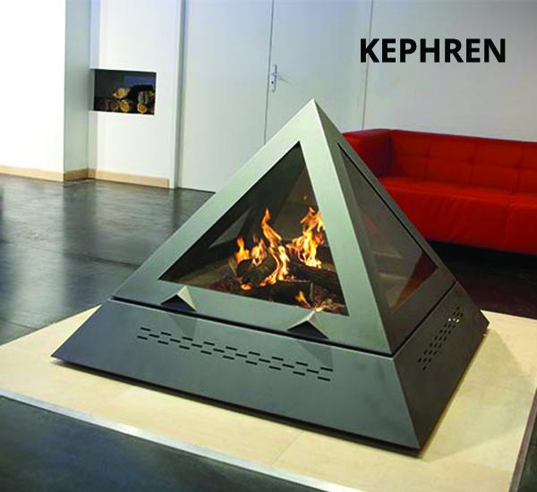 Cheminée pyramidale de la marque ARKIANE - Modèle KEPHREN (Eligible Crédit Impôt Transition Energétique) vendue par Poêles et Cheminées du Girou, près de Toulouse