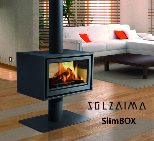 Poêle à bois SOLZAIMA - Modèle SlimBOX, en exposition chez Poêles et Cheminées du Girou, à Lavalette, près de Toulouse (31)