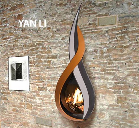 """Cheminée de prestige ARKIANE - Modèle YAN LI """"Le feu dans la flamme"""", vendue par Poêles et Cheminées du Girou, près de Toulouse"""