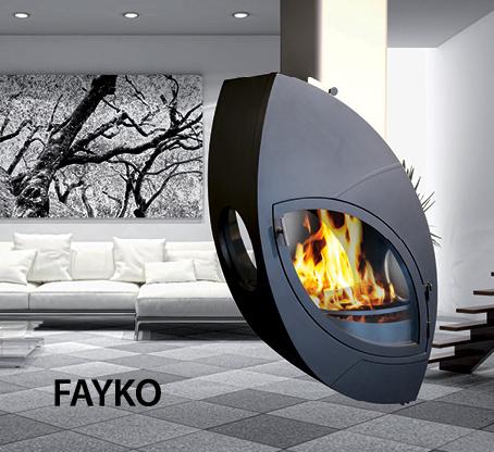 Cheminée de prestige ARKIANE - Modèle FAYKO, vendue par Poêles et Cheminées du Girou, près de Toulouse