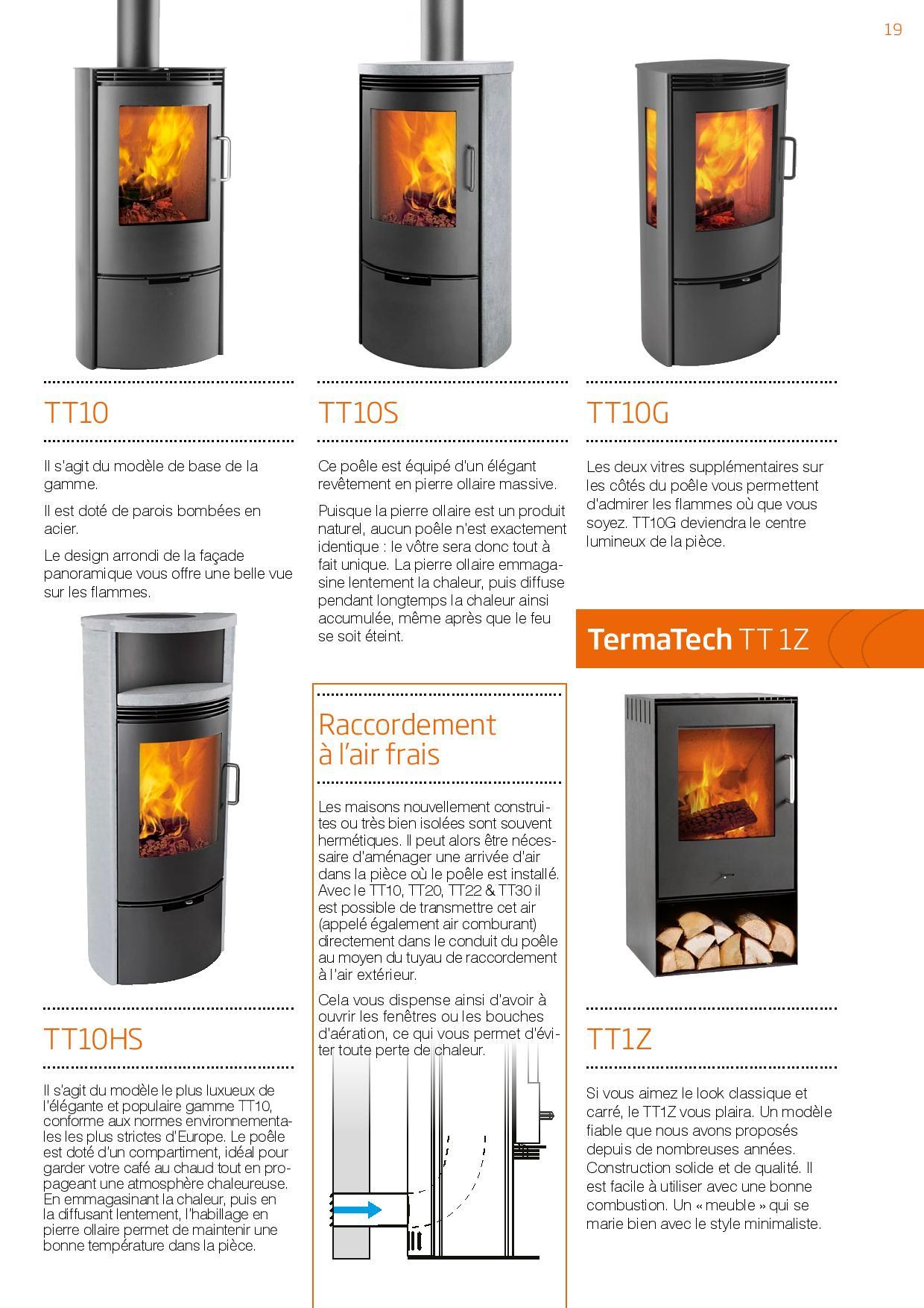 Poêle à bois TermaTech 2016 modèle TT10