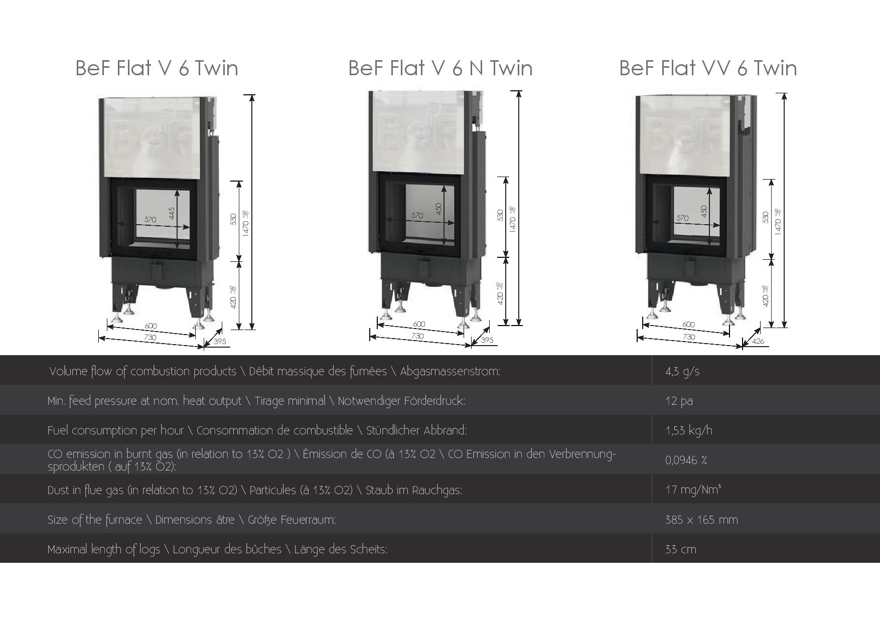 Foyers à bois Double face Bef HOME 5 kw vitre(s) relevable(s)