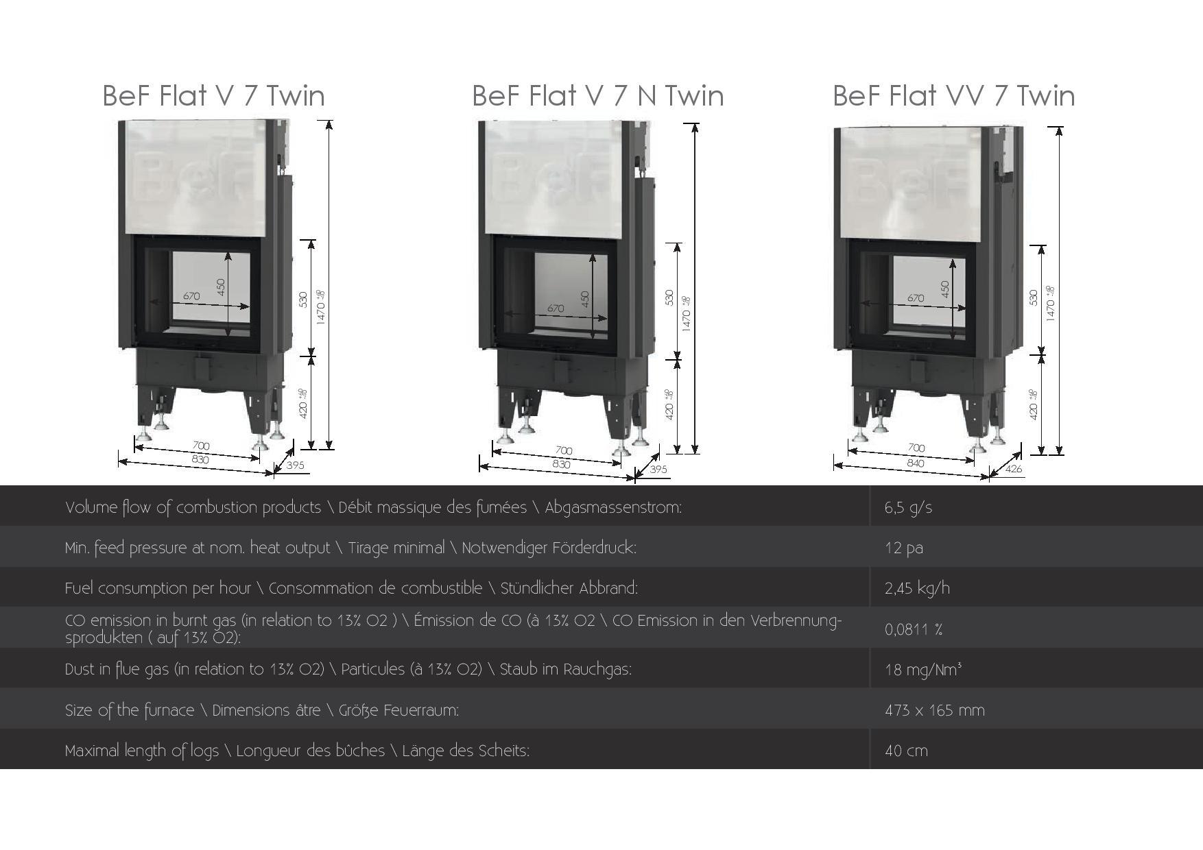 Foyers à bois Double face Bef HOME 7 kw vitre(s) relevable(s)