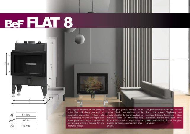 Foyers à bois FLAT BeF HOME 8 kw