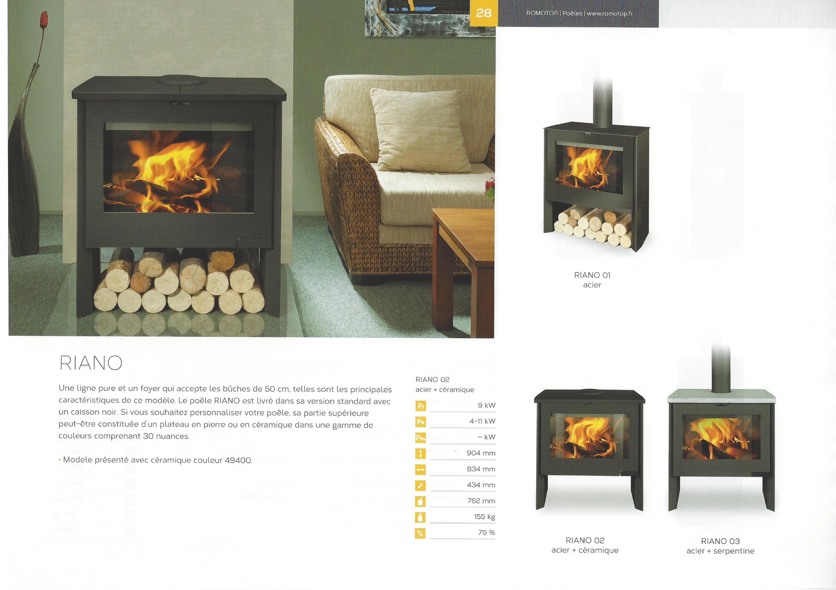Catalogue Poêles à bois ROMOTOP  poeledesigntoulouse